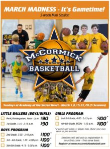 March Madness Basketball Camp Registration Flyer